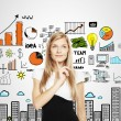 Businesswoman thinking — Stockfoto
