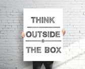 Think outside the box — 图库照片