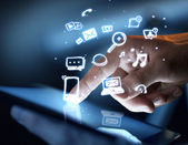 Concetto di media sociali — Foto Stock
