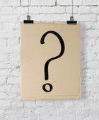 Vraagteken op poster — Stockfoto