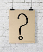 Question mark on poster — Stockfoto