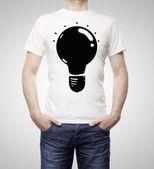 Lamp on t-shirt — Stock Photo