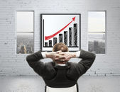 Growth chart on poster — Stock Photo