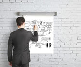 Business concept on poster — Stock Photo