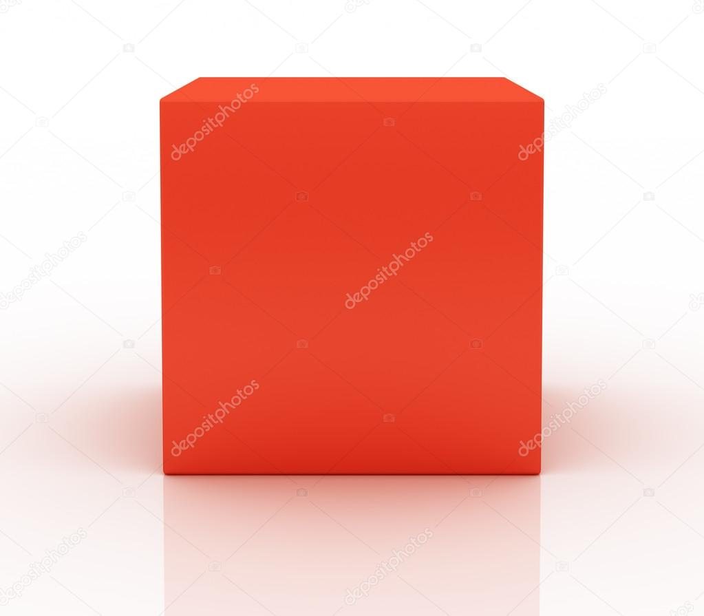 Red box on white background — Stock Photo #20041979