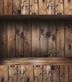 Wood shelf — Stock Photo