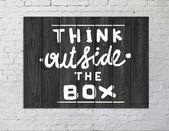 Pensar fuera de la caja — Foto de Stock