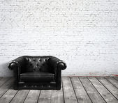 Leather sofa — Stock Photo