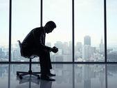 Oficina de hombre sentado — Foto de Stock