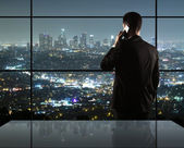 Man and city nightlife — Stock Photo