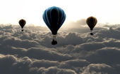 Three air baloon — Foto de Stock
