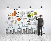 человек рисования бизнес-концепция — Стоковое фото
