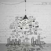 Desenho de conceito de negócio — Foto Stock