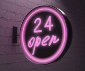 24 open sign — Stock Photo