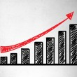 Growth chart — Stock Photo