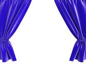Blue curtain — Stock Photo