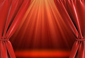 Curtain and bright stage — Stock Photo