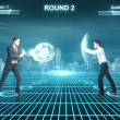 Battle of businessman — Stock Photo