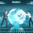 Stock Photo: Battle in cyberspace
