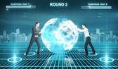 Battle in cyberspace — Stock Photo