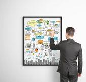 Bedrijfsstrategie op frame — Stockfoto