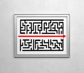 Drawing maze — Stock Photo