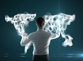 Rozhraní mapy světa — Stock fotografie