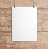 Beyaz kağıt klipleri — Stok fotoğraf