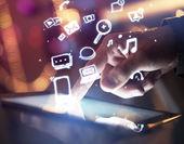Koncepcja mediów społecznych — Zdjęcie stockowe