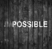 Koncepcja niemożliwe — Zdjęcie stockowe