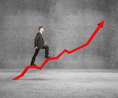 Businessman rise — Stock Photo