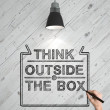 Think outside the box — Stock Photo #22833224