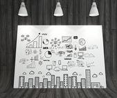 Bedrijfsconcept strategie — Stockfoto