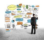 цвет-бизнес-стратегия — Стоковое фото