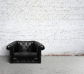 Leather sofa — Stock Photo