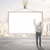 Blank billboard — Stock Photo