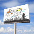 Business concept on billboard — Stock Photo #24982533