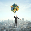 Businessman flying — Stock Photo #25033053