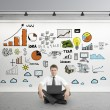 Business strategy on poster — Stock Photo #25033093