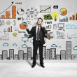 Business strategy on wall — Stockfoto