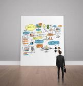 Επιχειρηματική ιδέα σε αφίσα — Φωτογραφία Αρχείου