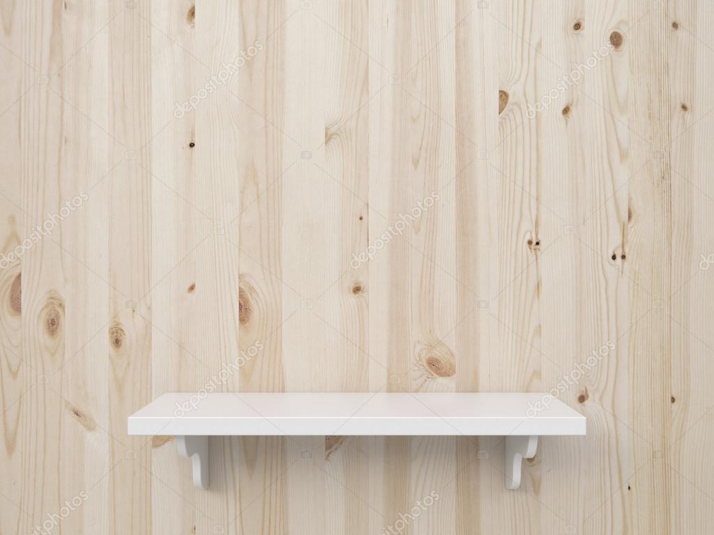 Brown wooden shelf — Stock Photo © peshkova #25500281