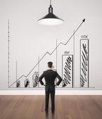 Chart on wall — Stock Photo