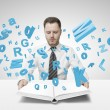 Man and letters — Stock Photo #26839173