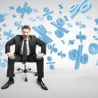 Man sitting on chair — Stock Photo
