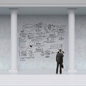 Business strategy on wall — Stock Photo