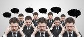 Viele unternehmer denken — Stockfoto