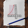 Crossword and chart — Stockfoto