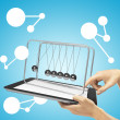 Newton's cradle — Stock Photo