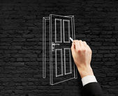 Drawing door — Stock Photo